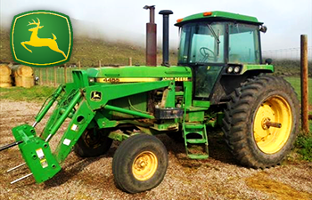 A John Deere used tractor